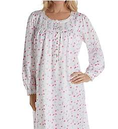 Eileen West Brushed Back Satin Long Sleeve Waltz Nightgown 5019941