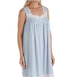 Eileen West Seaglass Seersucker Stripe Cotton Lawn Chemise 5019952