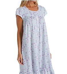 8d9998d12cb99 Eileen West Wildflower Cotton Knit Short Nightgown 5020012