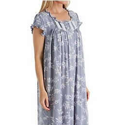 Eileen West Silver Floral Modal Waltz Nightgown 5020019