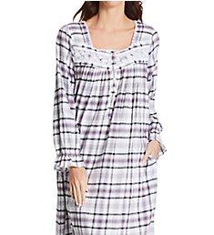 Eileen West Flannel Ballet Long Sleeve Nightgown 5020186
