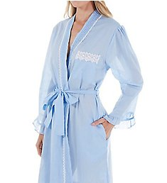 Eileen West Chambray Short Wrap Robe 5116048