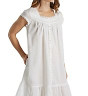 Eileen West Charming Short Button Front Coat/Nightgown 5116154