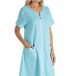 Eileen West Seaglass French Terry Short Zip Robe 5119848