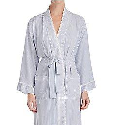 Eileen West Indigo Stripe Short Wrap Robe 5119875