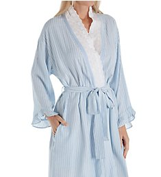 Eileen West Seaglass Stripe Short Wrap Robe 5119952
