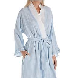 Eileen West Seaglass Stripe Short Wrap Robe 5119952