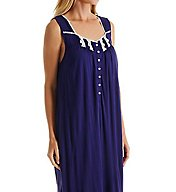 Eileen West Blue Flower Sleeveless Ballet Nightgown 5216120