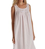 Eileen West Floral Embroidery Cotton Lawn Sleeveless Nightgown 5216196