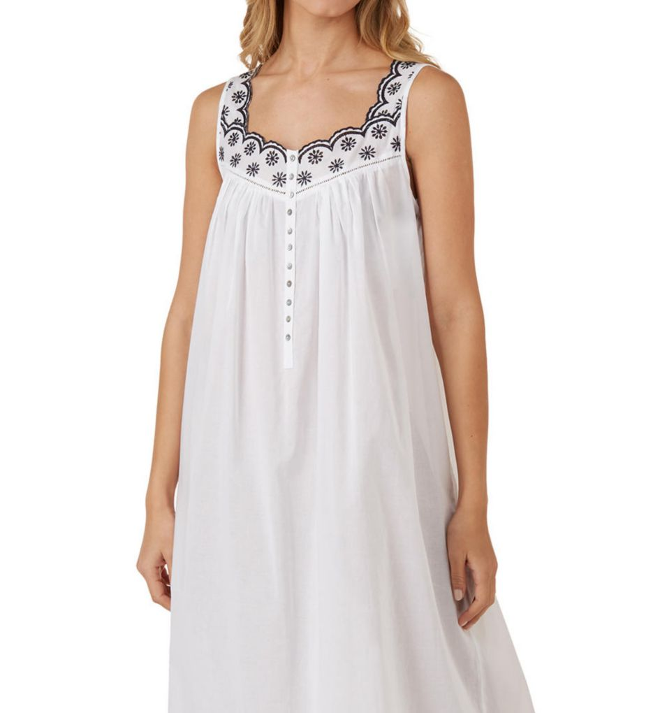 Eileen West Eyelet Floral Sleeveless Ballet Nightgown 5219830