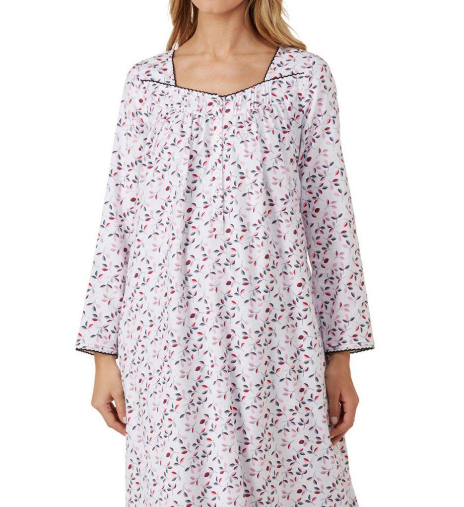 Eileen West Holiday Leaf Flannel Ballet Nightgown 5219832