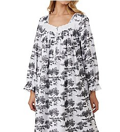 Eileen West Toile Flannel Ballet Nightgown 5219839