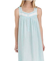 Eileen West Aqua Paisley Ballet Nightgown 5219866
