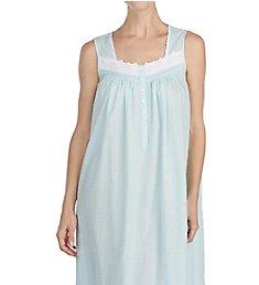 Eileen West Autumn Teal Sheer Stripe Clip Dot Ballet Nightgown 5219899