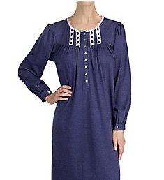 Eileen West Navy Cotton Ballet Nightgown 5219919