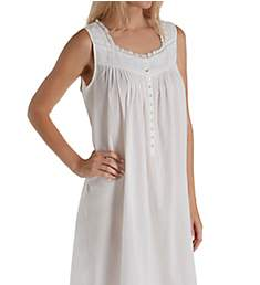 Eileen West Embroidered Scroll Sleeveless Ballet Nightgown 5219958