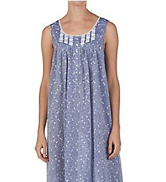 Eileen West Chambray Floral Cotton Woven Ballet Nightgown 5219999