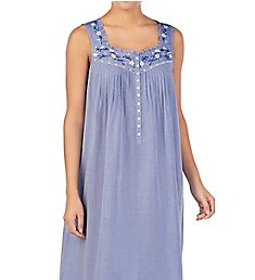 Eileen West Chambray Cotton Woven Ballet Nightgown 5220023