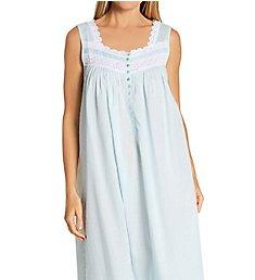 Eileen West Textured Sheer Sleeveless Ballet Nightgown 5220171
