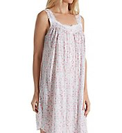 Eileen West Bunched Floral Modal Short Chemise 5316142