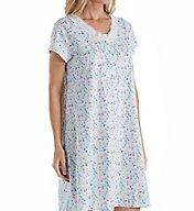 Eileen West Daisy Cotton Jersey Nightshirt 5316167