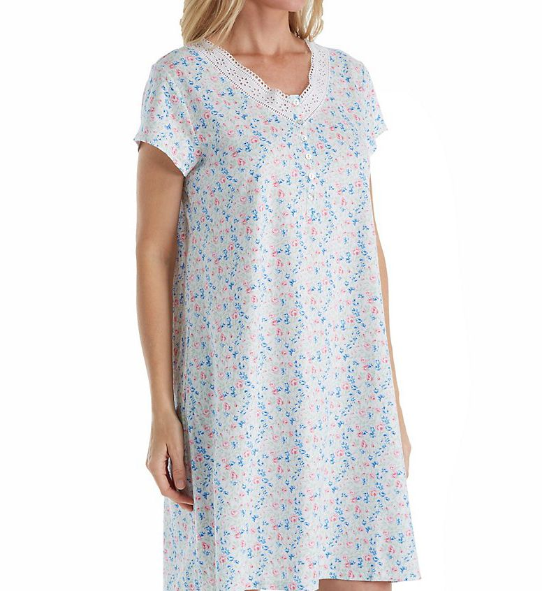 Eileen West Daisy Cotton Jersey Nightshirt 5316167