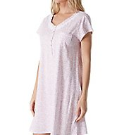 Eileen West Rose Scroll Cotton Jersey Short Nightgown 5316174