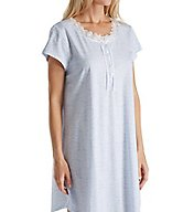 Eileen West White Geo Cotton Jersey Short Nightgown 5316175