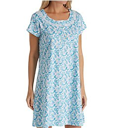 Eileen West Seaglass Cotton Short Sleepshirt 5319848