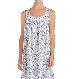 Eileen West Indigo Scroll Short Chemise 5319872