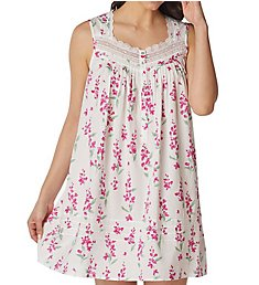 Eileen West Pink Floral Short Chemise 5319881