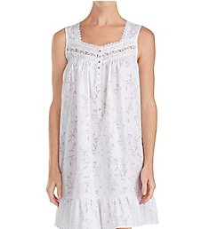Eileen West Floral Burnout Short Chemise 5319883