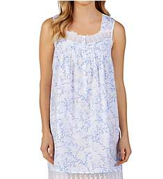 Eileen West Blooming Blue Short Chemise 5319968