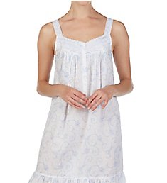Eileen West Floral Scroll Cotton Swiss Dot Chemise 5319983