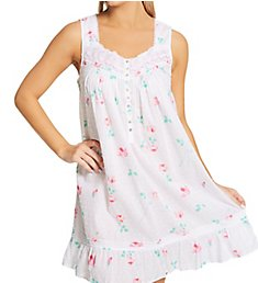 Eileen West 100% Cotton Short Sleeveless Nightgown 5320086