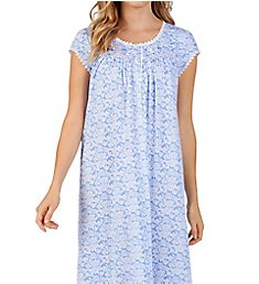 Eileen West Floral Cotton Modal Capsleeve Ballet Nightgown 5419970