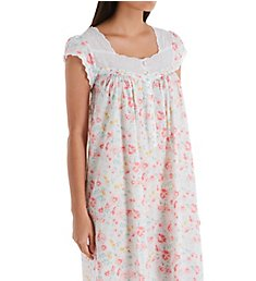 Eileen West Watercolor Floral Cotton Lawn Cap Sleeve Nightgown 5419990