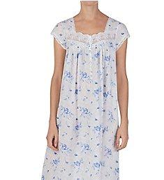 Eileen West Shadow Leaf Cotton Lawn Ballet Cap Sleeve Gown 5419998