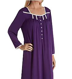 Eileen West Plum Modal Waltz Long Sleeve Gown 5519946