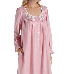 Eileen West Flannel Stripe Long Sleeve Ballet Nightgown 5519980