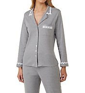 Eileen West Ruby Cotton Interlock Notch Collar Pajama 5719836