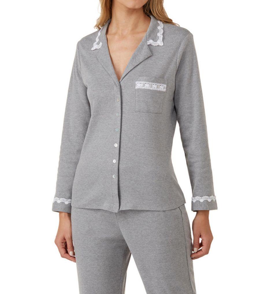 Eileen West Ruby Cotton Interlock Notch Collar Pajama 5719836