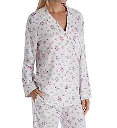 Eileen West Flannel Rose Ditsy Notch Collar Pajama 5719940