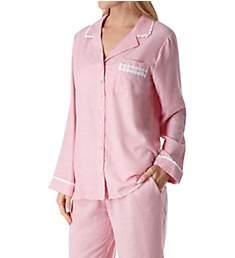 Eileen West Flannel Stripe Long Sleeve Button Front PJ Set 5719980
