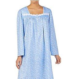 Eileen West Scroll Cotton Jersey Knit Long Sleeve Long Gown 5820026