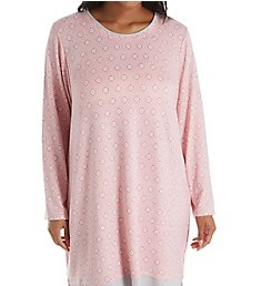 Ellen Tracy Cozy Sweater Knit Sleepshirt with Matching Socks 8121322