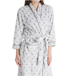 Ellen Tracy Cozy Sheared Chenille Dot Long Robe 8218676