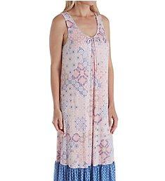 Ellen Tracy Sail Away Geo Midi Gown with Shelf Bra 822134B