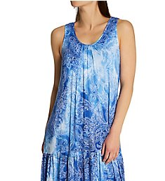 Ellen Tracy Paisley Midi Gown With Soft Bra 8222989