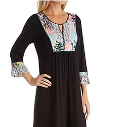 Ellen Tracy Spring Geo Long Nightgown 8318601